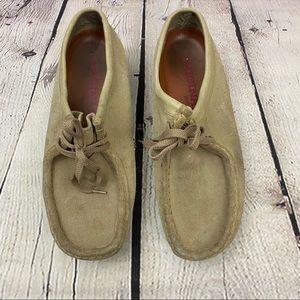 Clarks original Wallabee Suede shoes Mens Size 9.5